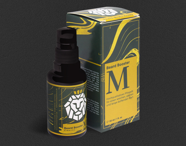 beard oil beard booster packaging