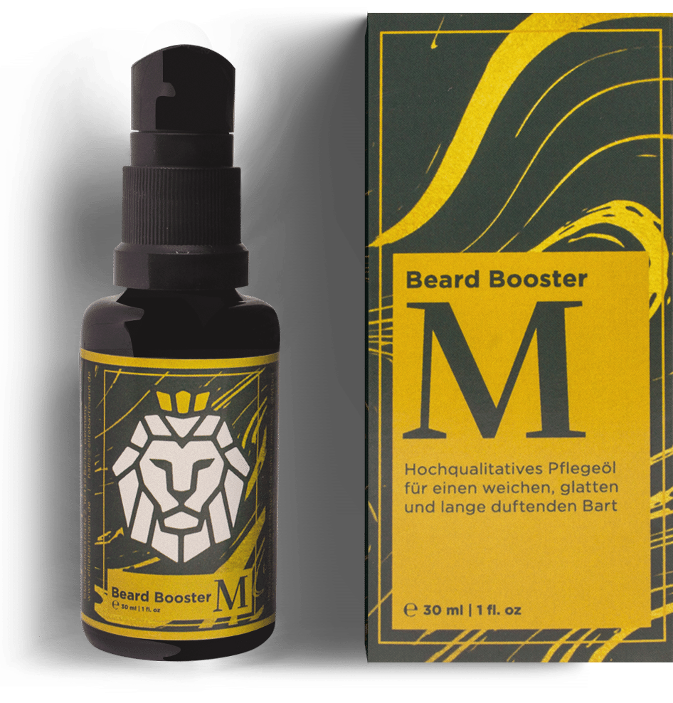 premium beard oil bottle with packaging
