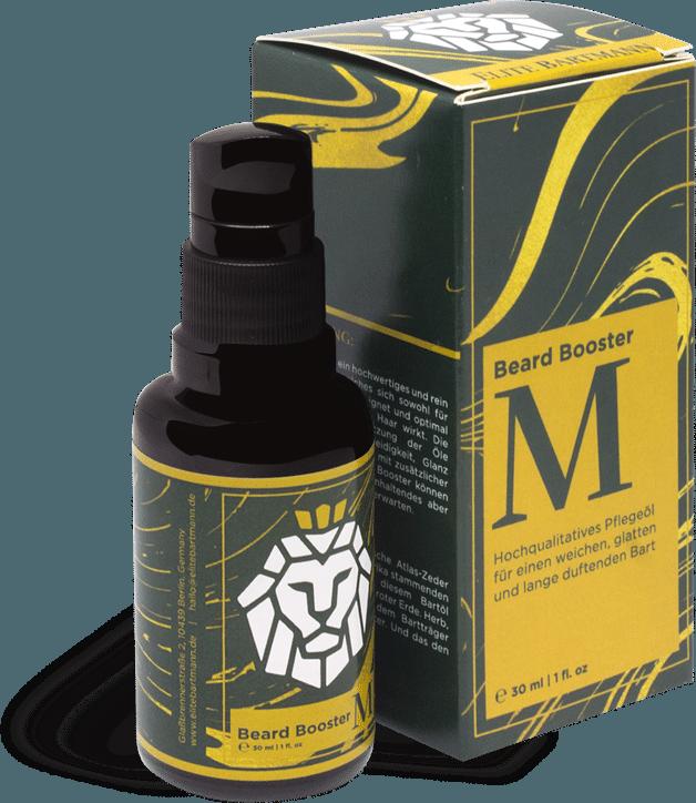 premium beard oil bottle with packaging