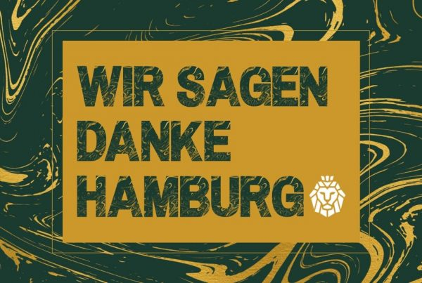 cover with text that says wir sagen danke hamburg