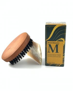beard oil brush comb wood horn