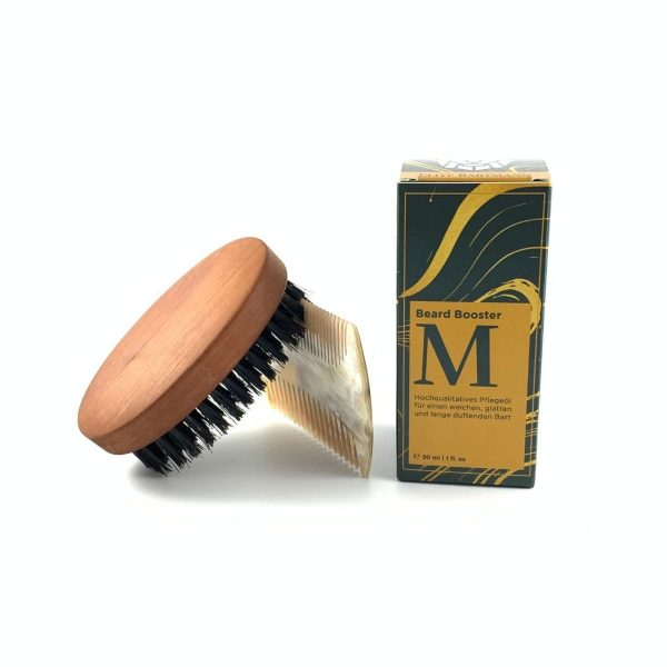 beard oil brush comb wood horn