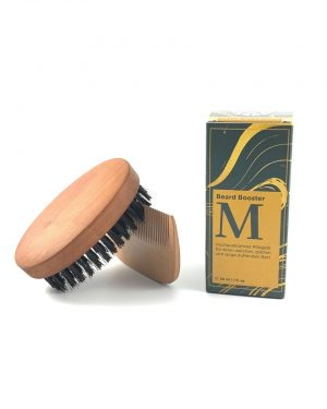 beard oil comb wood brush wood