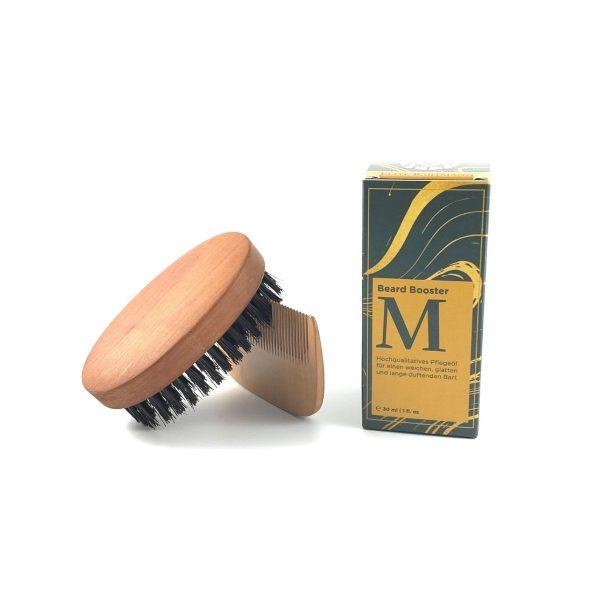 beard oil comb wood brush wood